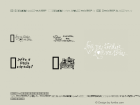 DJ Little miracles III Regular Macromedia Fontographer 4.1 2001-02-15 Font Sample