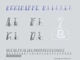 KGGIRAFFE Regular Macromedia Fontographer 4.1 2/15/2001 Font Sample