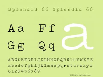 Splendid 66 Splendid 66 Steffo's Olympia Font Sample