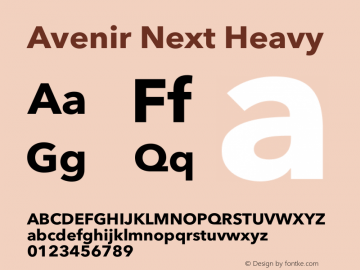Avenir Next Heavy 13.0d1e10图片样张