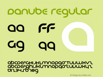 Danube Regular Macromedia Fontographer 4.1 2001.02.15. Font Sample