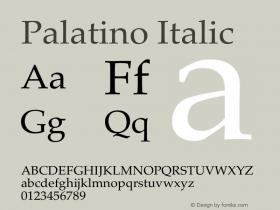 Palatino Italic 13.0d1e2图片样张