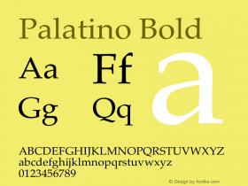 Palatino Bold 13.0d1e2图片样张