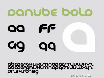 Danube Bold Macromedia Fontographer 4.1 2001.02.15. Font Sample