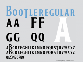 BOOTLE Regular Macromedia Fontographer 4.1 15/02/01 Font Sample