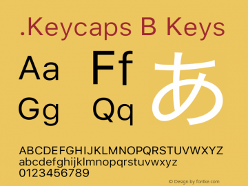 .Keycaps B Keys 17.0d3e13图片样张