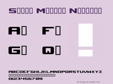 Space Marine Nominal 0.70 | 16.02.2001 Font Sample