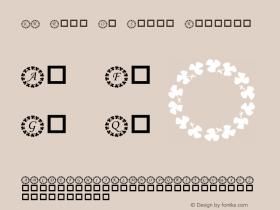 KR Ring O' Shams Regular Macromedia Fontographer 4.1 02/16/2001 Font Sample