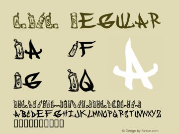 CANS Regular Macromedia Fontographer 4.1 2/16/01 Font Sample