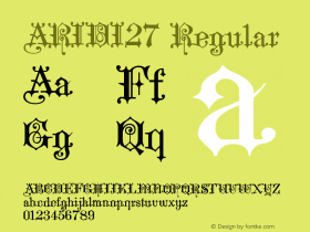 ARIDI27 Regular 1.0 Font Sample