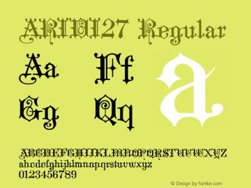 ARIDI27 Regular 1.0 Font Sample
