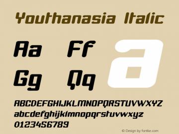 Youthanasia Italic 1.0 Font Sample