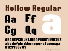 Hollow Regular Version 1.000;PS 001.000;hotconv 1.0.88;makeotf.lib2.5.64775图片样张