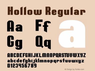 Hollow Regular Version 1.000;PS 001.000;hotconv 1.0.88;makeotf.lib2.5.64775图片样张