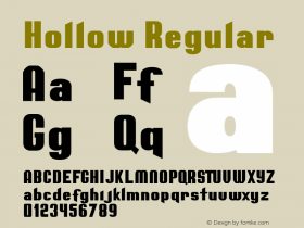 Hollow Regular Version 1.000图片样张
