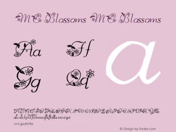 MC Blossoms MC Blossoms Version 1.02; October, 2000 Font Sample