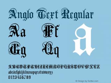 Anglo Text Regular Macromedia Fontographer 4.1.4 7/20/99 Font Sample