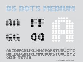 DS Dots Medium Version 1.0; 2001; initial release Font Sample