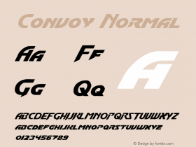 Convoy Normal Macromedia Fontographer 4.1 2/17/2001 Font Sample