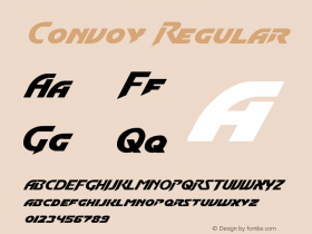 Convoy Regular Version 2.00 January 17, 2011 Font Sample