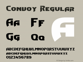 Convoy Regular Version 3.30 - April 25, 2013 Font Sample