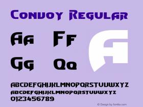 Convoy Regular Version 3.10: March 14, 2012 Font Sample