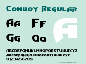 Convoy Regular Version 3.20 - February 8, 2013 Font Sample