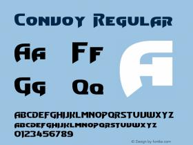 Convoy Regular Version 1.10 February 17, 2015 Font Sample