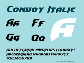 Convoy Italic Version 1.10 February 17, 2015 Font Sample