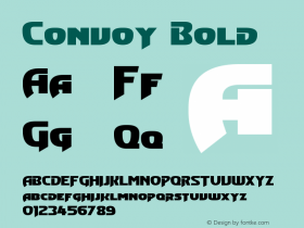Convoy Bold Version 1.10 February 17, 2015 Font Sample