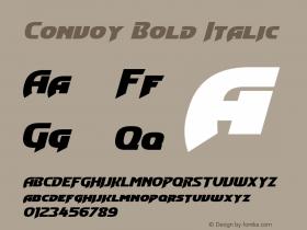 Convoy Bold Italic Version 1.10 February 17, 2015 Font Sample