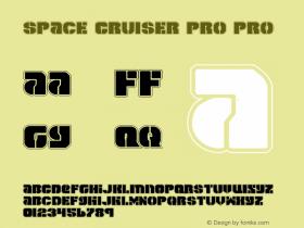 Space Cruiser Pro Pro 1 Font Sample