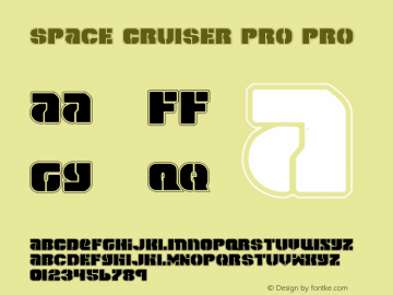 Space Cruiser Pro Pro 1 Font Sample