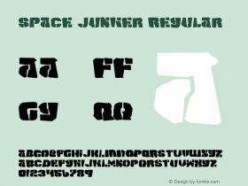 Space Junker Regular 2 Font Sample