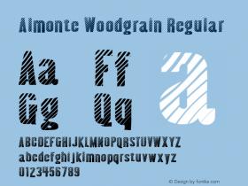Almonte Woodgrain Regular Version 2.000 2004 Font Sample