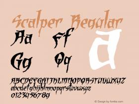 Scalper Regular Version 1.00 Font Sample