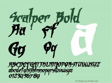 Scalper Bold Version 1.00 Font Sample