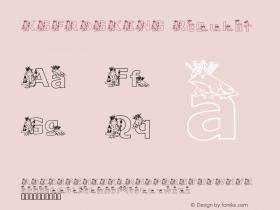 KGFROGKING Regular Macromedia Fontographer 4.1 2/18/01 Font Sample