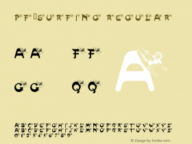 pf_surfing Regular Macromedia Fontographer 4.1 02/18/2001 Font Sample