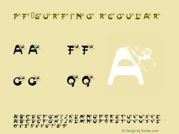 pf_surfing Regular Macromedia Fontographer 4.1 02/18/2001 Font Sample