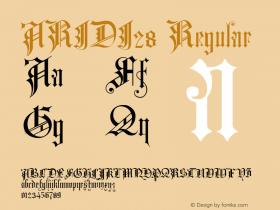 ARIDI28 Regular 1.0 Font Sample