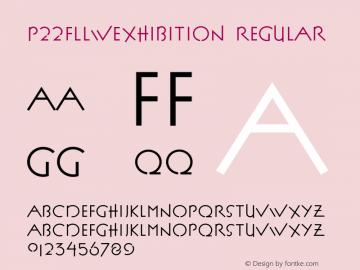 P22FLLWExhibition Regular 001.000 Font Sample
