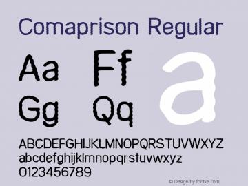 Comaprison Regular 2001; 1.0     www.stimuleyefonts.com Font Sample