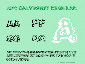 Apocalypshit Regular Macromedia Fontographer 4.1 2/20/01 Font Sample