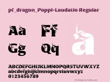 pf_dragon_Poppl-Laudatio Regular 2001; 1.0, initial release Font Sample