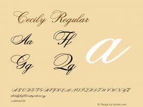 Cecily Regular Altsys Fontographer 4.0.3 2/6/94 Font Sample