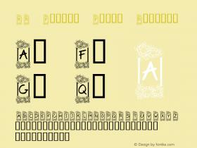 KR Flower Frame Regular Macromedia Fontographer 4.1 02/20/2001 Font Sample
