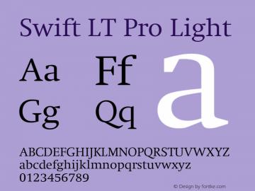 SwiftLTPro-Light Version 1.100;PS 001.001;hotconv 1.0.38图片样张
