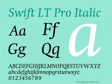 SwiftLTPro-Italic Version 1.100;PS 001.001;hotconv 1.0.38图片样张