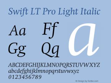 SwiftLTPro-LightItalic Version 1.100;PS 001.001;hotconv 1.0.38图片样张